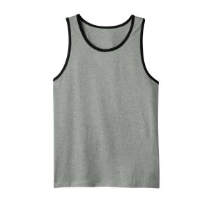 District Young Mens Cotton Ringer Tank