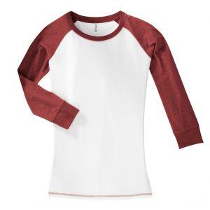 District Juniors 3 4-Sleeve Cotton Raglan Tee