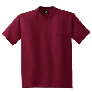Hanes Beefy-T 100% Cotton T-Shirt with Pocket